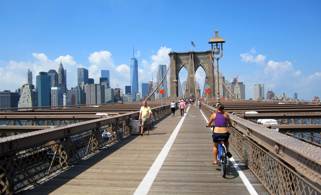 Brooklyn Bridge Bike Path, NYC