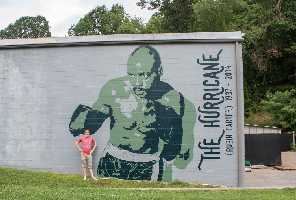 """Rubin """"The Hurricane"""" Carter - Mural in Asheville, NC"""