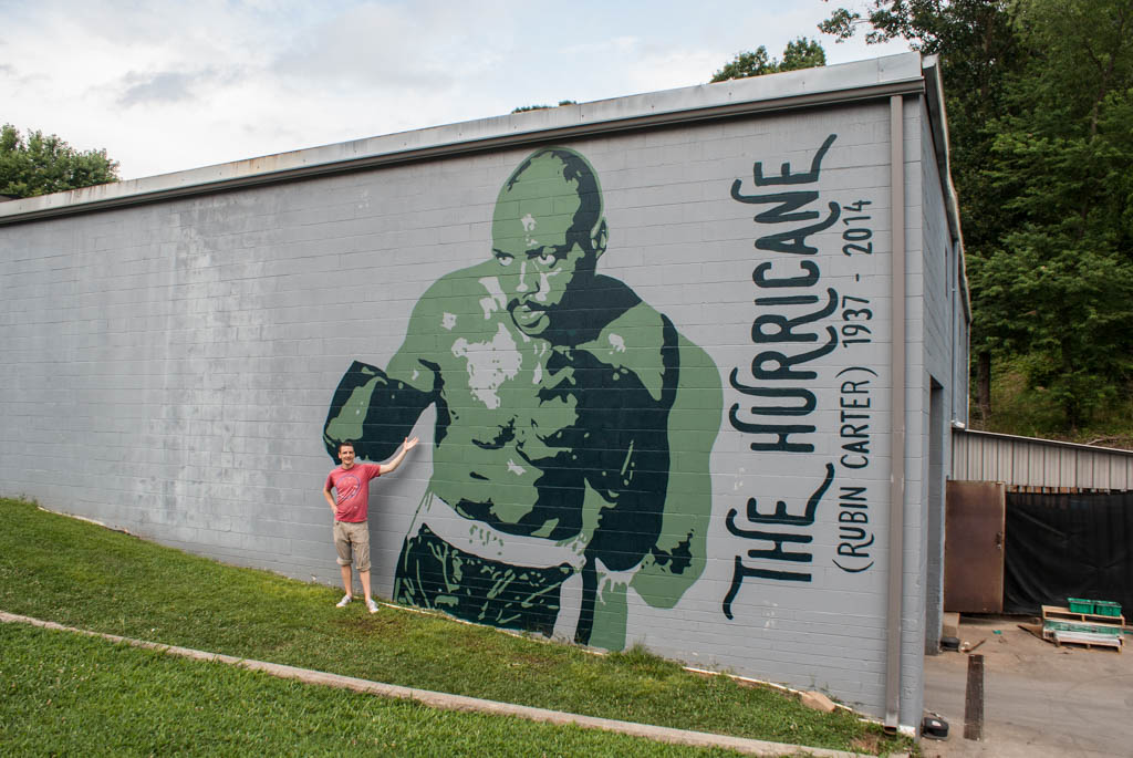 "Rubin ""The Hurricane"" Carter - Mural in Asheville, NC"